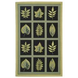 Safavieh Hand-hooked Chelsea Panels Black Wool Rug (8'9 x 11'9)