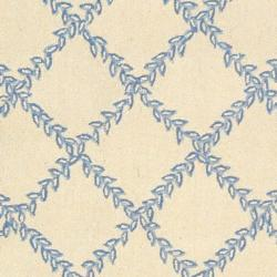 Safavieh Hand-hooked Trellis Ivory/ Light Blue Wool Rug (7'6 x 9'9)