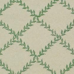 Hand-hooked Trellis Ivory/ Light Green Wool Rug (3'9 x 5'9)