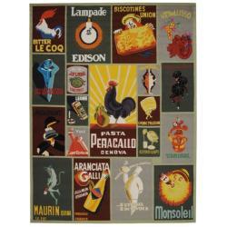 Safavieh Hand-hooked Vintage Poster Sage Wool Rug (7'6 x 9'9)