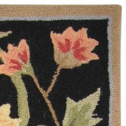 Safavieh Hand-hooked Garden Scrolls Black Wool Rug (1'8 x 2'6)