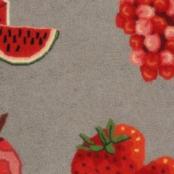 Safavieh Hand-hooked Chelsea Fruits Grey Wool Rug (2'6 x 4')