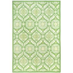 Hand-hooked Chelsea Heritage Green Wool Rug (7'6 x 9'9)