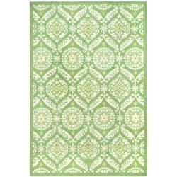 Hand-hooked Chelsea Heritage Green Wool Rug (8'9 x 11'9)