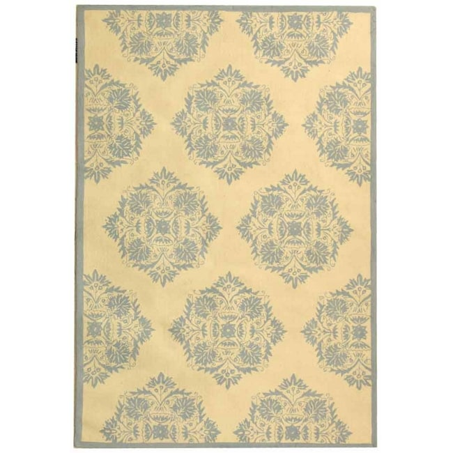 "Safavieh Hand-Hooked Chelsea Ivory Cotton-Canvas Wool Rug (7'6"" x 9'9"")"