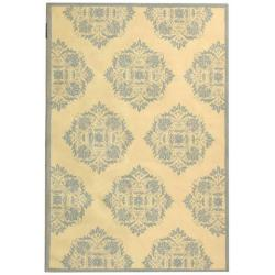 Hand-Hooked Chelsea Ivory Cotton-Canvas Wool Rug (7'6
