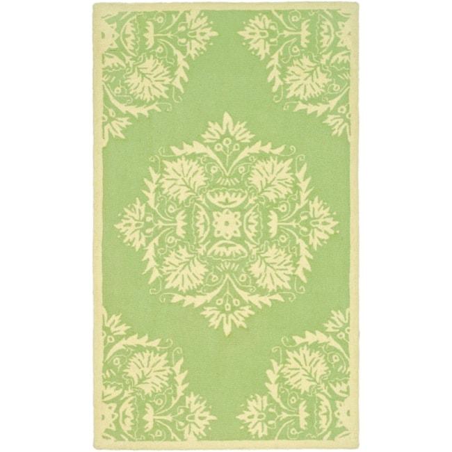Safavieh Hand-hooked Chelsea Green Wool Rug (2'6 x 4')