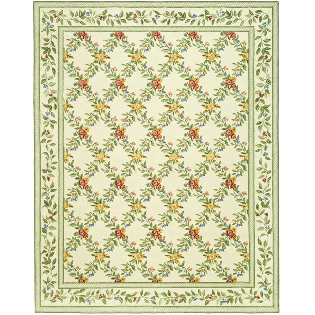 Safavieh Hand-hooked Garden Trellis Ivory Wool Rug (5'3 x 8'3)