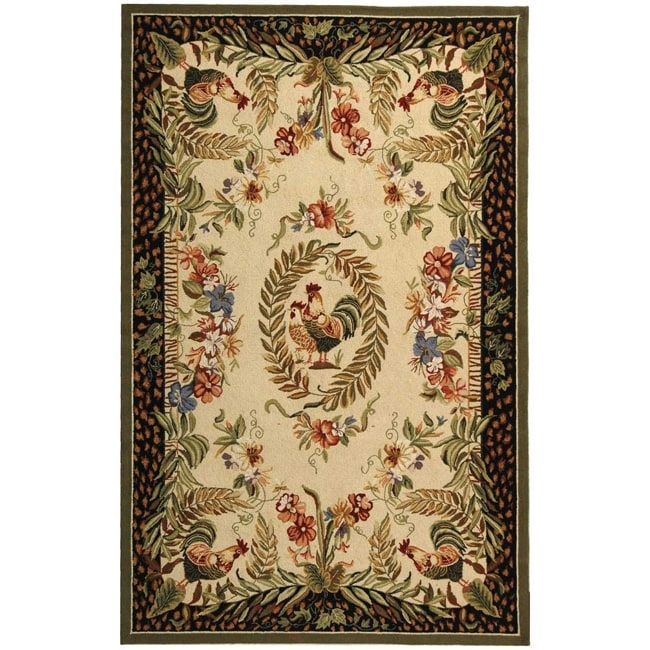 Safavieh Hand-hooked Rooster and Hen Cream/ Black Wool Rug (8'9 x 11'9) at Sears.com