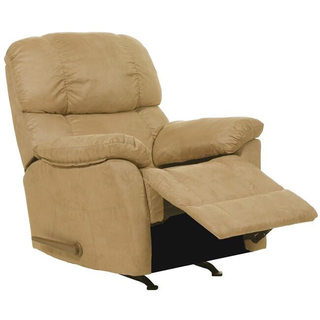 Ranger Sand Fabric Rocker Recliner Chair