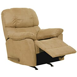 Ranger Sand Fabric Rocker Recliner Chair