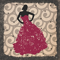 Ankan 'Gala Dress 1' Gallery-wrapped Canvas Art