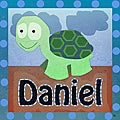 Ankan 'Personalized Turtle' Gallery-wrapped Canvas Art