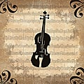 Ankan 'Violin' Gallery-wrapped Canvas Art
