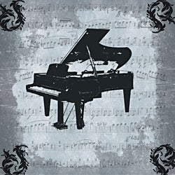 Ankan 'Piano' Gallery-wrapped Canvas Art