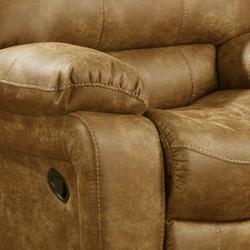 Montana Brown Reclining Sofa and Loveseat