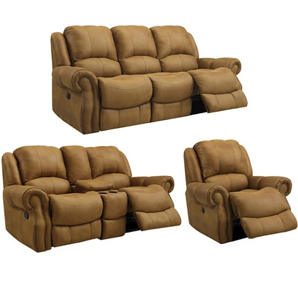 Buckskin Brown Reclining Sofa Loveseat And Recliner