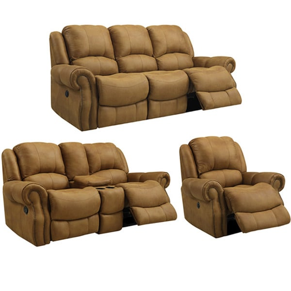 Buckskin Brown Reclining Sofa Loveseat And Recliner Glider Chair 14477319