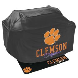 Clemson Tigers Grill Cover and Mat Set