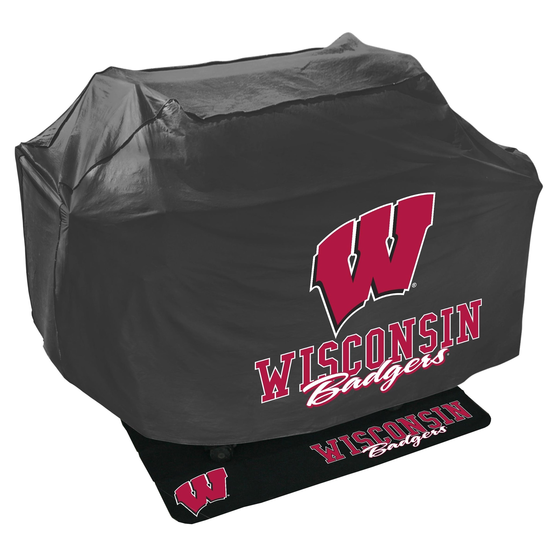 Wisconsin Badgers Grill Cover and Mat Set