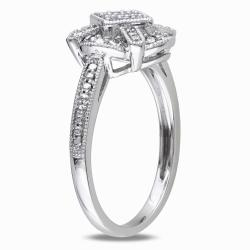 Miadora 10k White Gold 1/10ct TDW Diamond Ring (G-H, I1-I2)