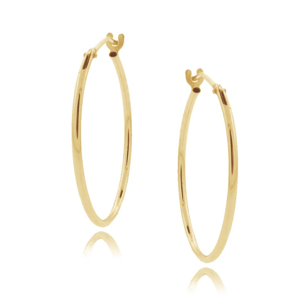 Mondevio 10k Yellow Gold Hoop Earrings