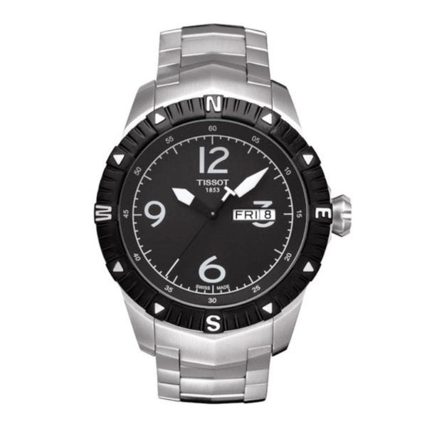 Tissot Men's Stainless Steel Black Dial Watch