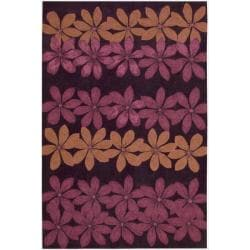 Nourison Hand-tufted Contours Plum Rug (5' x 7'6)