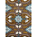 Alliyah Hand-tufted Sudan Brown Wool Rug (5' x 8')