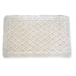 Solid Ivory Memory Foam 20 x 32 Bath Mat