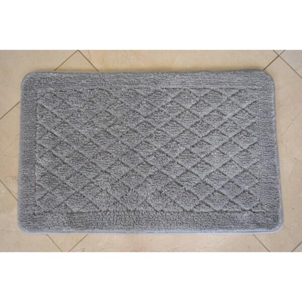Solid Grey Memory Foam 20 x 32 Bath Mat