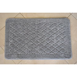 Solid Grey Memory Foam 20x32 Bath Rug