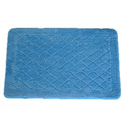 Solid Light Blue Memory Foam 20x32 Bath Rug