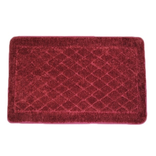Solid Burgundy Memory Foam 20 x 32 Bath Mat