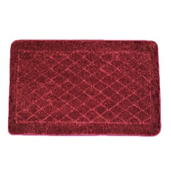 Solid Burgundy Memory Foam 20x32 Bath Rug