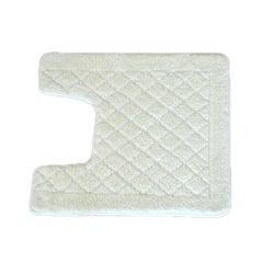 Solid White Memory Foam Contour Bath Mat