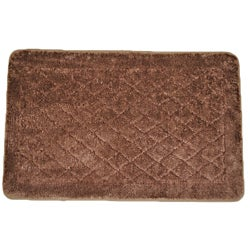 Solid Brown Memory Foam 20x32 Bath Rug