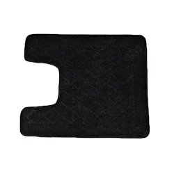 Solid Black Memory Foam Contour Bath Mat