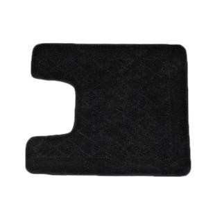 Solid Black Memory Foam Contour Bath Mat