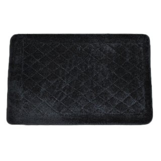 Solid Black Memory Foam 20 x 32 Bath Mat
