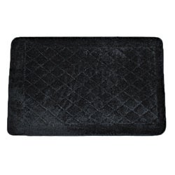 Solid Black Memory Foam 20x32 Bath Rug