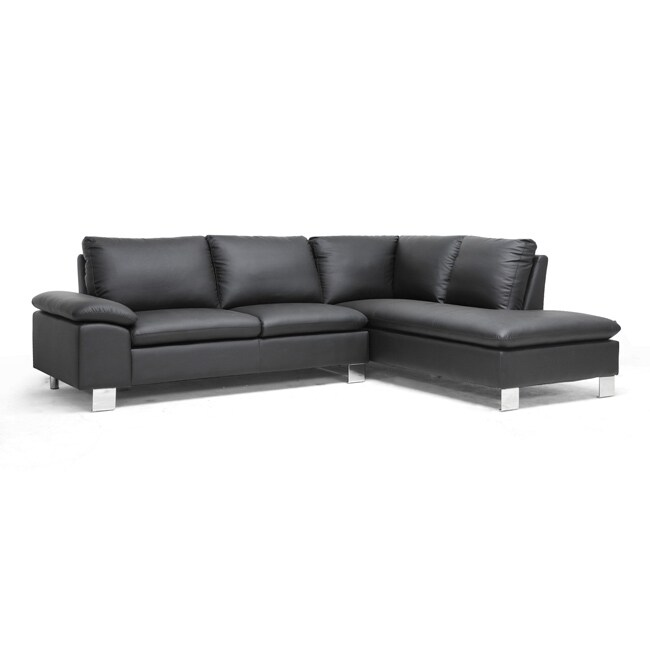 toria black modern sectional sofa - 14477463