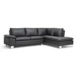 Toria Black Modern Sectional Sofa