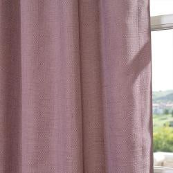 EFF Mauve Linen Blend Grommet Curtain Panel