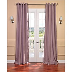 Mauve Linen Blend Grommet Curtain Panel