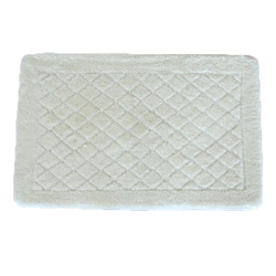 Solid White Memory Foam 20x32 Bath Rug