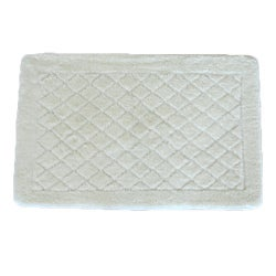 Solid White Memory Foam 20 x 32 Bath Mat