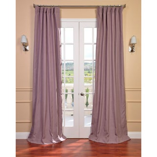 Mauve Linen Blend Curtain Panel