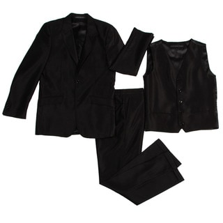 Rockstar Boys' 3-piece Black Suit