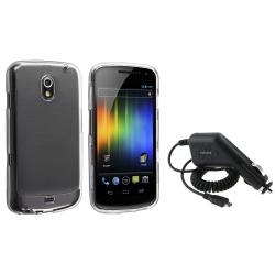 Clear Crystal Case/ Car Charger for Samsung Galaxy Nexus i9250